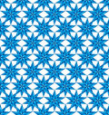Blue stars seamless pattern. Stock Photography