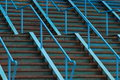 Blue Steel Stairs Royalty Free Stock Photos