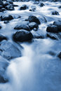 Blue stream and rocks Royalty Free Stock Images