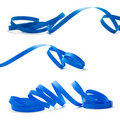 Blue streamer - party Royalty Free Stock Photo