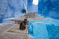 Blue street in Chefchaouen Stock Photo