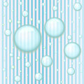 Blue Striped Seamless Pattern with Water Drops Stock Photos