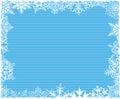 Blue Striped Snowflake Background Royalty Free Stock Photo