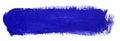 Blue stroke of gouache paint brush Royalty Free Stock Photo