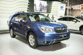 Blue subaru forester car new in the th zhengzhou dahe spring international auto show take from zhengzhou henan china Royalty Free Stock Images