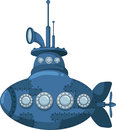 Blue submarine for you design illustration of Royalty Free Stock Photo