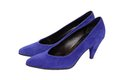 Blue suede  shoes Royalty Free Stock Photo