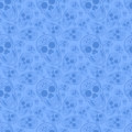 Blue Sugar Skull seamless pattern Stock Images