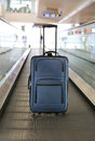 Blue suitcase. Royalty Free Stock Photo