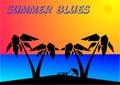 Blue summer Zdjęcia Royalty Free