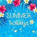 Blue summer background