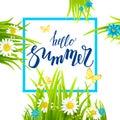Blue summer frame