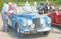 Blue Sunbeam Alpine ; National Rally in Inverness. Stock Photo