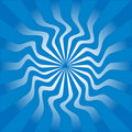 Blue sunburst vector illustration Royalty Free Stock Photo