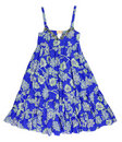 Blue sundress Royalty Free Stock Image