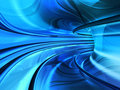 Blue super speed tunnel Royalty Free Stock Image