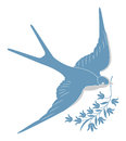 Blue swallow Royalty Free Stock Image