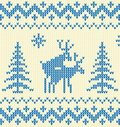 Blue sweater with deer Stock Images