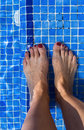 Blue swimming pool water rippled detail Royalty Free Stock Photo