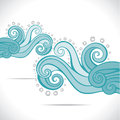 Blue swirl design background Stock Photography