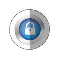 blue symbol lock icon Royalty Free Stock Photo