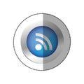 blue symbol wifi icon