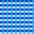 Blue tablecloth Vector. Traditional tablecloth pattern Vector. Blue color square pattern Royalty Free Stock Photo