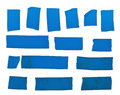 Blue tape slices Stock Image