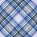Blue tartan check plaid fabric seamless pattern Royalty Free Stock Photo