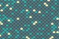 Blue, teal and light yellow fish scale background