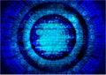 Blue tech background vector design technology abstract