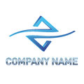 Blue tech logo Royalty Free Stock Photography