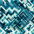 Blue tech seamless pattern Stock Photography