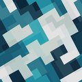 Blue tech square seamless pattern Royalty Free Stock Photo