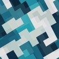 Blue tech square seamless pattern Royalty Free Stock Photo