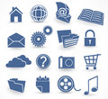 Blue Technology Icon Set