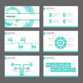 Blue Technology Infographic elements icon presentation template flat design set for advertising marketing brochure flyer Royalty Free Stock Photo