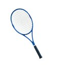 Blue tennis racket isolated white background Royalty Free Stock Photo