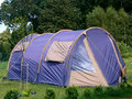 Blue tent Stock Images