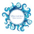 Blue tentacles round frame