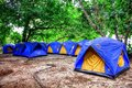 Blue tents in krabi thailand Royalty Free Stock Image