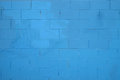 Blue texture. Blue brick wall background made of grungy rusty blocks. Royalty Free Stock Photo
