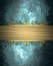 Blue texture with gold ribbon. Element for design. Template for design. copy space for ad brochure or announcement invitation, abs