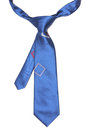 Blue tie isolated on white background Royalty Free Stock Image