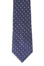 Blue tie with white speck background Stock Images