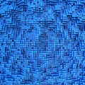 Blue tile mosaic surface with convex effect Stock Image