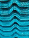 Blue tile roof texture Royalty Free Stock Photo