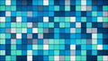 Blue tiles glass mosaic background Royalty Free Stock Photo