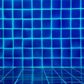 Blue tiles swimming pool pattern Stock Photo