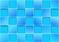 Blue tiles threedimensional background clip art Royalty Free Stock Images